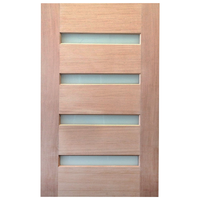 1200x2040x40mm Entrance Solid Timber Veneer External Front Entry Door Glass 030