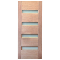 820x2040x40mm Entrance Solid Timber Veneer External Front Entry Door Glass 030