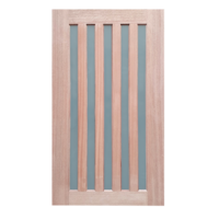 1200x2040x40mm Entrance Solid Timber Veneer External Front Entry Door Glass 033