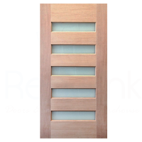 920x2040x40mm Entrance Solid Timber Veneer External Front Entry Door Glass 035