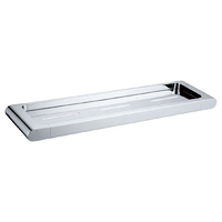 BATHROOM ACCESSORY METAL SHELF BRASS CHROME 3612