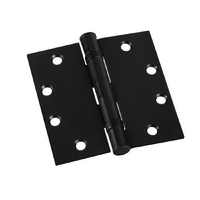 ZANDA BLACK ENTRANCE DOOR HINGE 100x75x3MM FIXED PIN BALL BEARING