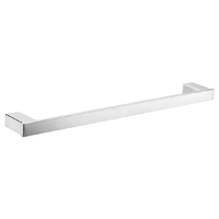 810mm SQUARE SINGLE TOWEL RAIL HOLDER BATHROOM ACCESSORY STAINLESS STEEL 6408-810