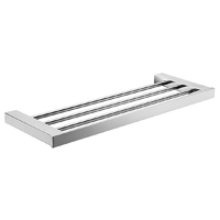 TOWEL SHELF SQUARE STAINESS STEEL RACK BATHROOM ACCESSORIES 6482