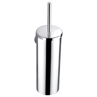 Otus Bathroom Toilet Brush Cleaning Wash Holder Wall Mount Standing Chrome 8119