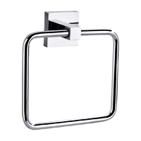 SQUARE TOWEL HOLDER RING RAIL SOLID BRASS BATHROOM ACCESSORY 8913