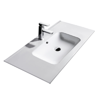910x465x170mm Bathroom Vanity Cabinet Ceramic Wash Basin Sink Top White 90Q