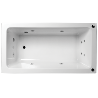 ALFA ACRYLIC SPA BATH RECTANGLE 10 JETS 1700 X 760 X 450MM
