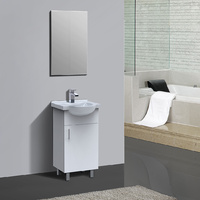 ALISON 450mm PVC Water Proof Bathroom Vanity Semi Recess Ceramic Wash Basin Sink