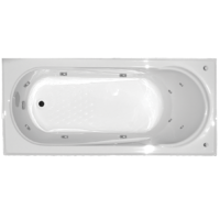 ALLURA SPA BATH ACRYLIC RECTANGLE 6 JETS 1530 X 750 X 450MM