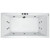 CATOLINA ACRYLIC SPA BATH RECTANGLE 6 JETS 1680 X 840 X 460MM