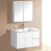 IVANA 900mm Right Drawers PVC Wall Hung Vanity Cabinet
