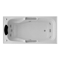 MARCHENA ACRYLIC SPA BATH RECTANGLE 7 JETS 1735 X 870 X 550MM