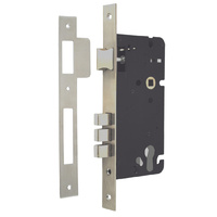 Entrance Mortice Door Lock Set 60mm Backset Entry Stainless Steel MLW60SC