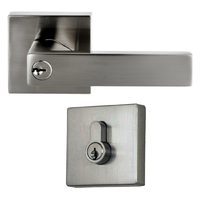 Nidus Project Lonsdale Square COMBO Door Lock Set Deadbolt Key Brushed Nickel