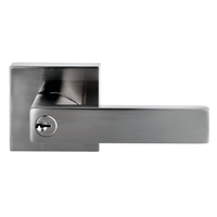 Nidus Project Lonsdale Square ENTRANCE Door Lock Handle Set Key Brushed Nickel