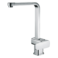 Gooseneck Kitchen Laundry Sink Mixer Tap Swivel Spout Faucet Chrome PSR1003SB