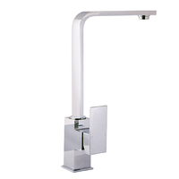 Square Kitchen Laundry Sink Mixer Tap Swivel Spout Faucet Brass Chrome PSS1001SB