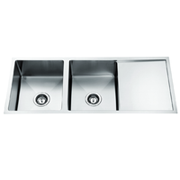 1260x440 Handmade laundry kitchen sink top/under mount stainless steel 12644RDT
