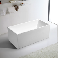 Bathroom Free Standing Bath Tub 1700x750x600 Thin Edge Freestanding REN185-1700