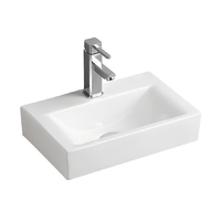 455x305x130mm Bathroom Wall Hung Mount Ceramic Wash Basin Vanity Sink REN268