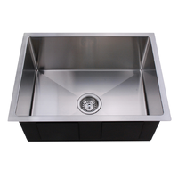 540x440mm Handmade laundry kitchen sink top/under mount stainless steel REN5444R