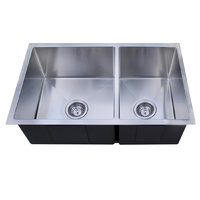 780x440mm Handmade laundry kitchen sink top/under mount stainless steel 7844RD