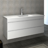 VELLENA 1200mm PVC Water Proof MATTE WHITE Wall Hung Bathroom Vanity Cabinet