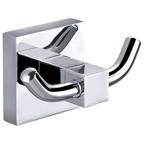 SQUARE DOUBLE ROBE TOWEL HOOK BATHROOM ACCESSORIES SOLID BRASS CHROME 8915