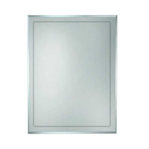 600 x 750mm BATHROOM MIRROR BEVELLED EDGE HUNG VERTICAL or HORIZONTAL (F002-600)