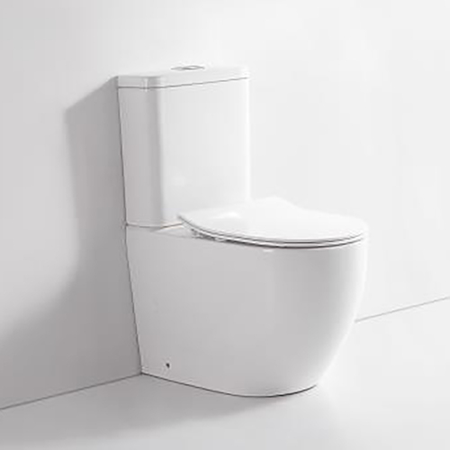 SARINA Rimless Bathroom Toilet Suite Ceramic Back To Wall Soft Close Seat REN10