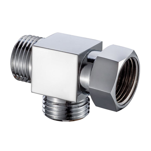 T Connector Toilet Bidet Shattaf Adapter Divertor Valve Brass Chrome ST003